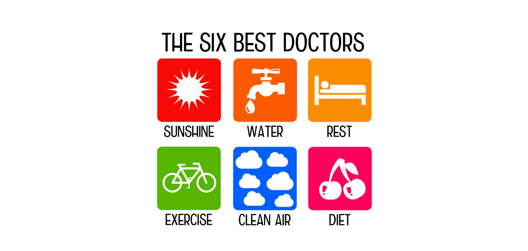 Healthy living by following the orders of the six best doctors